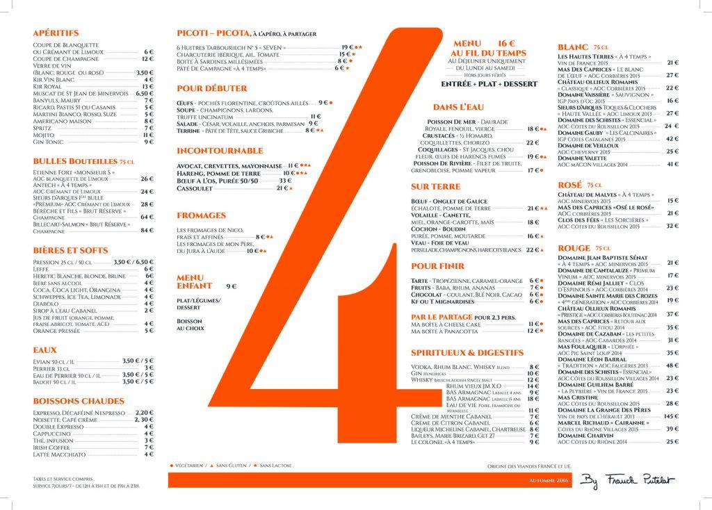 Brasserie A Quatre Temps Carcassonne
