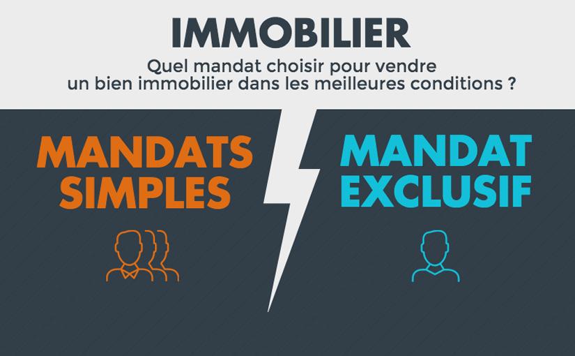 [Infographie] Mandat Simple VS Mandat Exclusif : lequel est le plus efficace ?