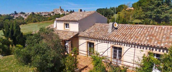 Villa à vendre à Montréal, à 20 minutes à l'ouest de Carcassonne – vidéo drone