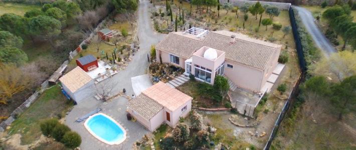 Belle Villa traditionnelle proche Carcassonne – vidéo drone